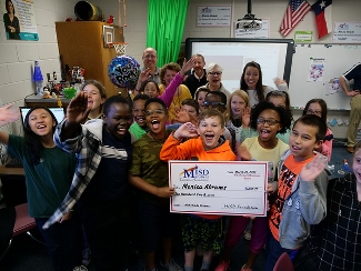 Ms. Abrams receives a grant